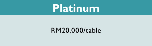 #BizForChildren Charity Dinner. Platinum sections. RM20,000 per table.