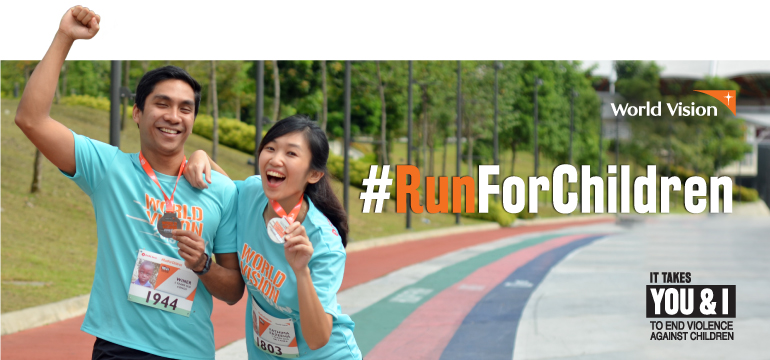 #RunForChildren. It takes you and I to end violence against children.