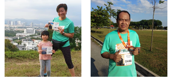 World Vision Malaysia #RunForChildren - Runners bib. T-shirst.
