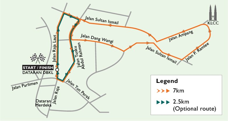 Route map for World Vision Malaysia #RunForChildren