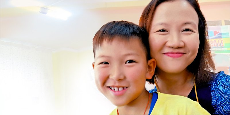 World Vision Malaysia child sponsor, Carol Wong, and her sponsored child