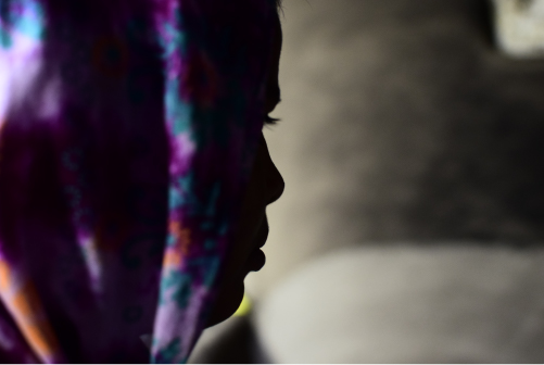 side profile of Samira