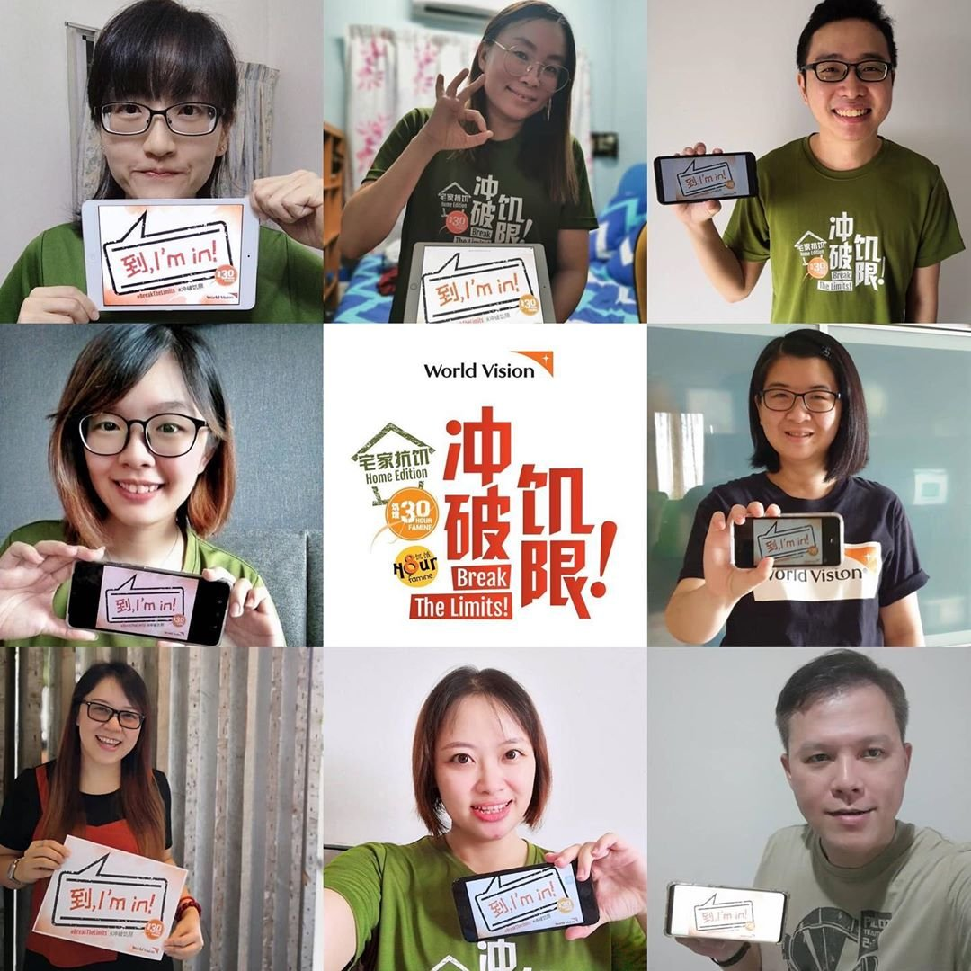 These Famine Fighters have committed to be a part of the 30-Hour Famine 2020. 到, I'm in!