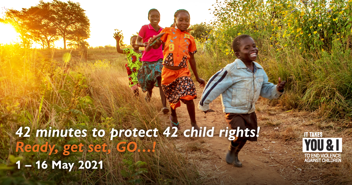 Run, jog or walk for 42 minutes to protect billions of children and their child rights! Come join our virtual #RunForChildren
