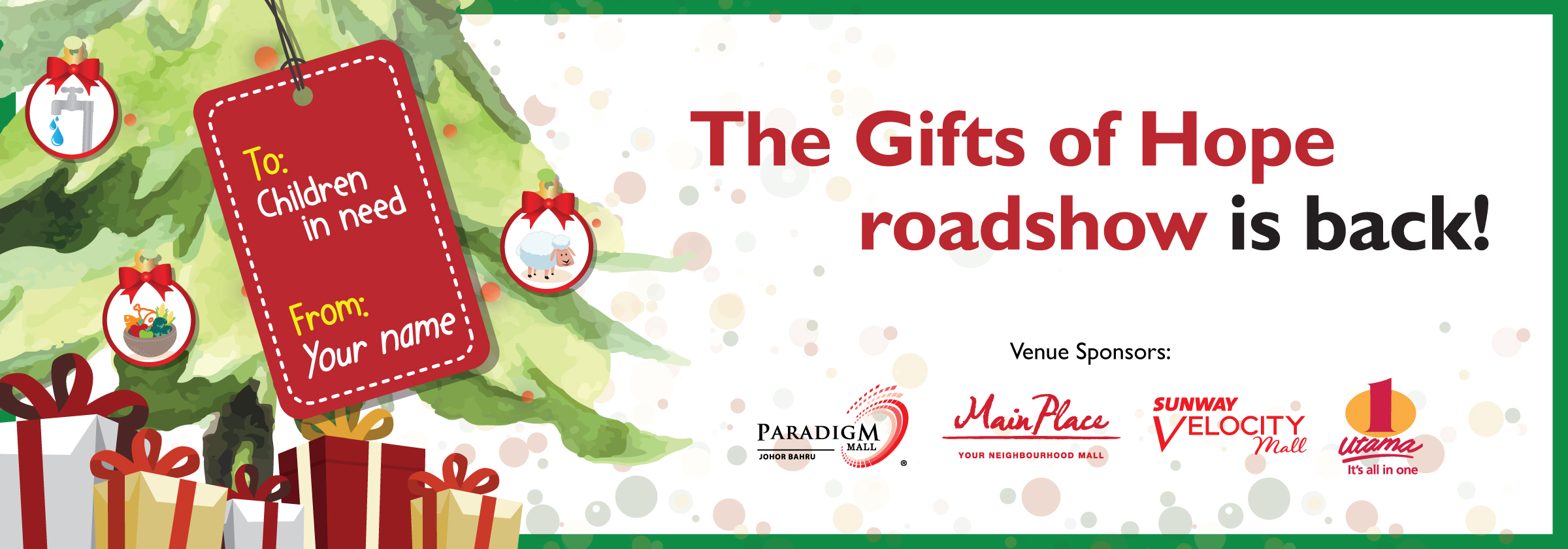 The Gifts of Hope roadshow is back in Klang Valley's shopping malls!